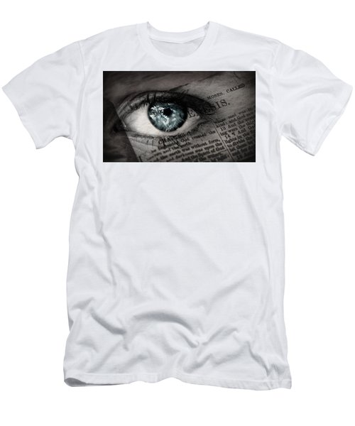 Seek The Truth Men's T-Shirt (Slim Fit) by David Norman