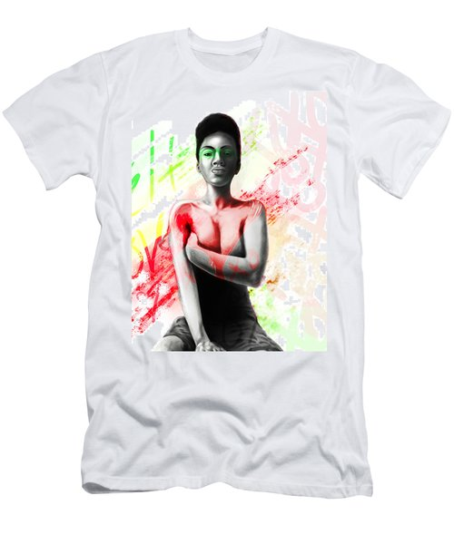 Men's T-Shirt (Slim Fit) featuring the digital art Self Love Xoxo by AC Williams