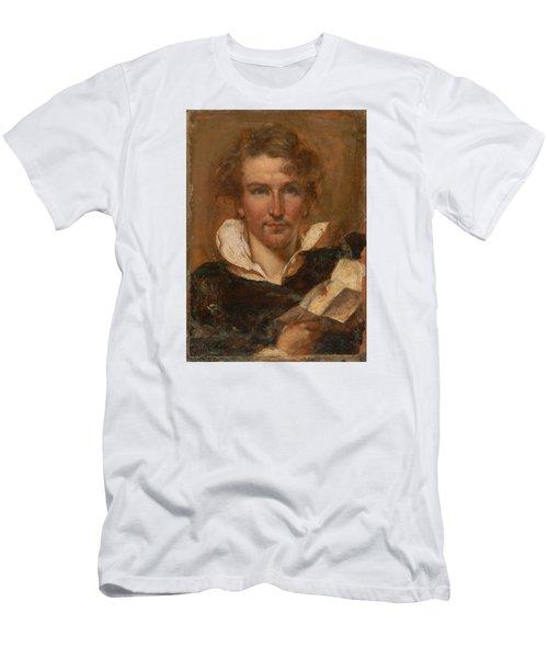 Self Portrait Men's T-Shirt (Slim Fit) by William Etty