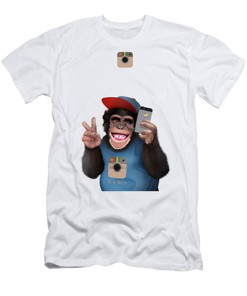 Selfi Chimpanzee Men's T-Shirt (Athletic Fit)
