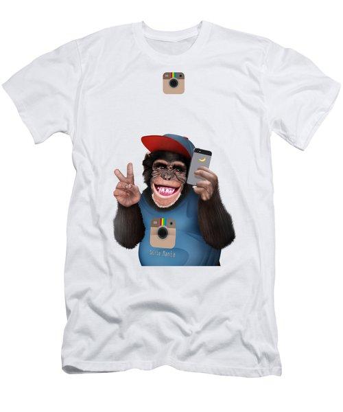 Selfi Chimpanzee Men's T-Shirt (Athletic Fit)