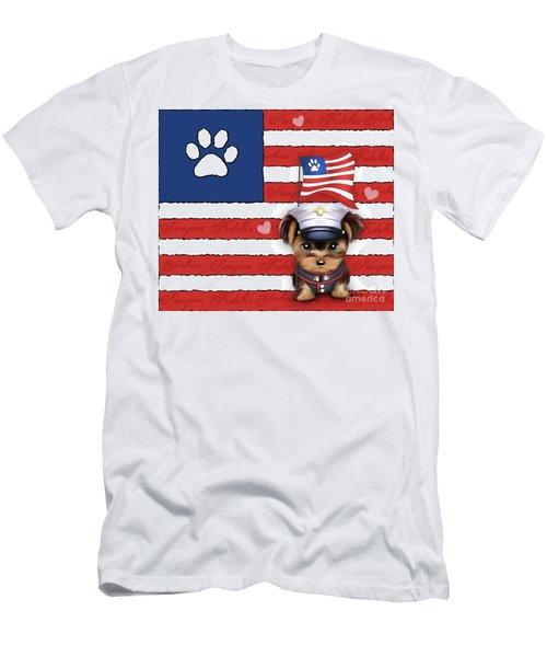 Semper Fidelis Yorkie Marine Men's T-Shirt (Slim Fit) by Catia Cho