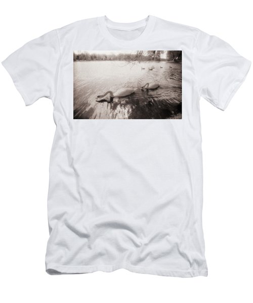 Sepia Swans Men's T-Shirt (Athletic Fit)