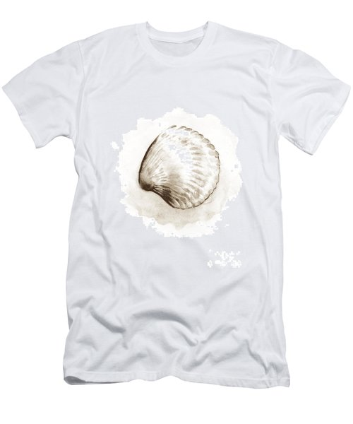 Sepia Tone Clam Shell Watercolor Men's T-Shirt (Athletic Fit)