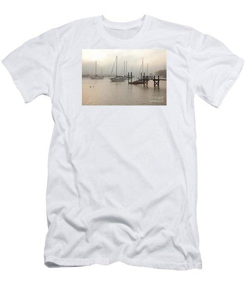 September Fog I Men's T-Shirt (Slim Fit) by Butch Lombardi