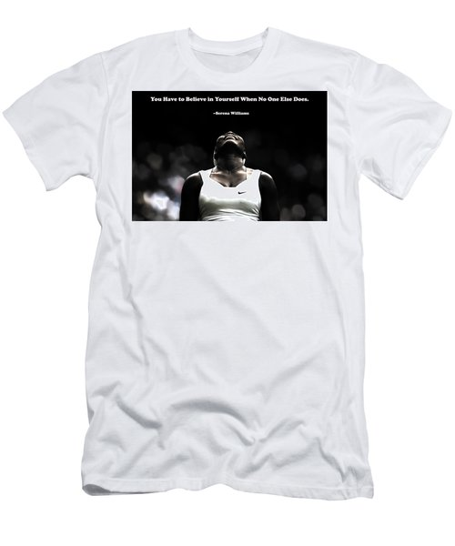Serena Williams Quote 2a Men's T-Shirt (Slim Fit) by Brian Reaves