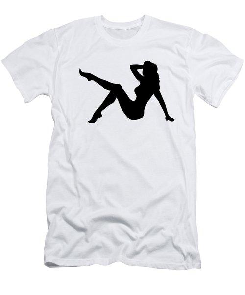 Sexy Trucker Girl Tee Men's T-Shirt (Slim Fit) by Edward Fielding
