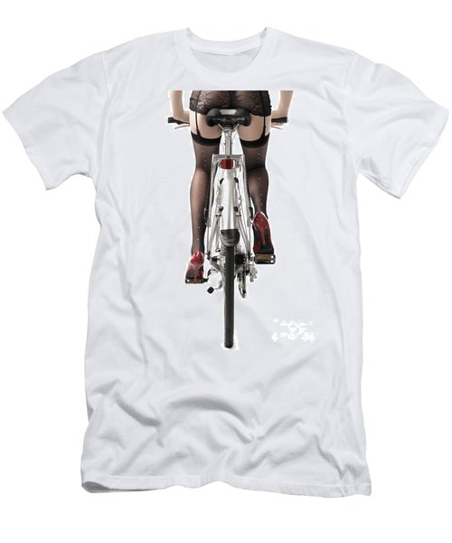 Sexy Woman Riding A Bike Men's T-Shirt (Athletic Fit)