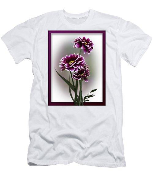 Shades Of Purple Men's T-Shirt (Slim Fit) by Judy Johnson