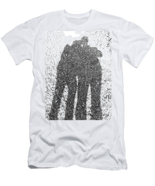 Men's T-Shirt (Slim Fit) featuring the photograph Shadow In The Meadow Bw by Wilhelm Hufnagl