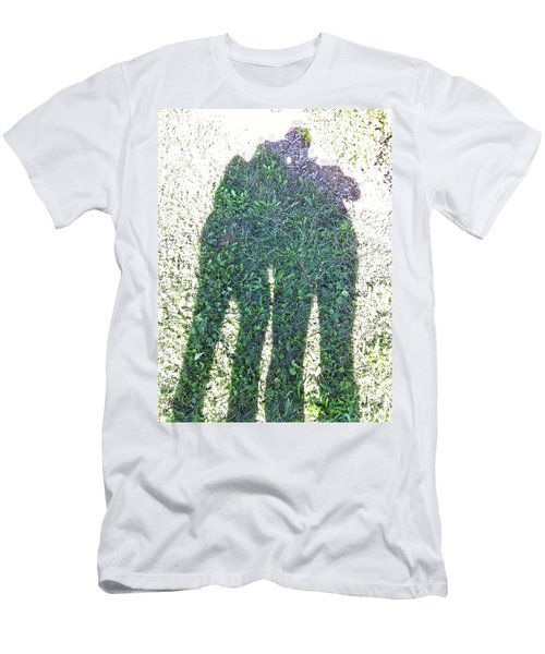 Men's T-Shirt (Slim Fit) featuring the photograph Shadow In The Meadow by Wilhelm Hufnagl