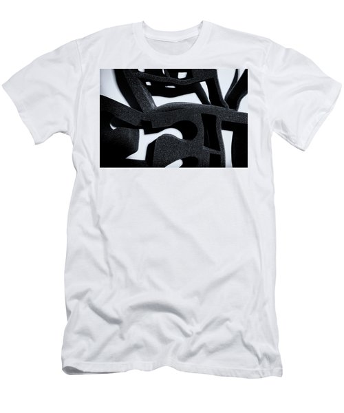 Men's T-Shirt (Athletic Fit) featuring the photograph Shadow Of Foam Abstract One by John Williams