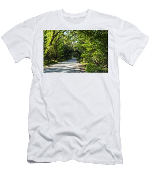Men's T-Shirt (Slim Fit) featuring the photograph Shady Lane In Ocklawaha by Deborah Smolinske