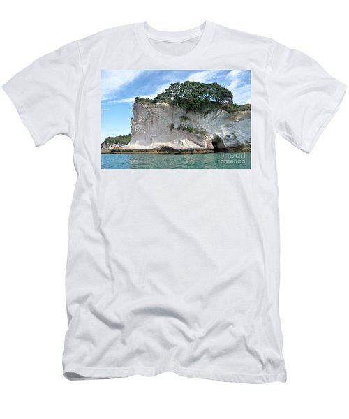 Men's T-Shirt (Slim Fit) featuring the photograph Shakespeare Rock, New Zealand by Yurix Sardinelly