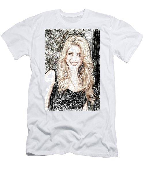 Shakira Men's T-Shirt (Slim Fit) by Raina Shah