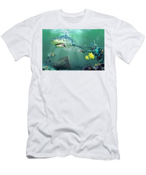 Men's T-Shirt (Slim Fit) featuring the photograph Shark Bait by Don Olea