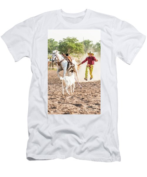 Shawnee Sagers Goat Roping Competition Men's T-Shirt (Athletic Fit)