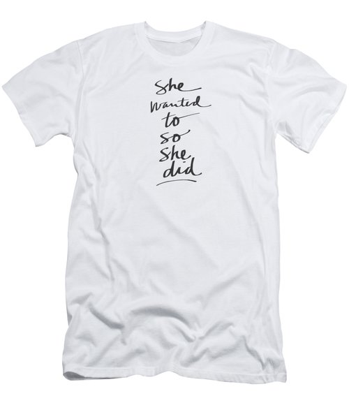 She Wanted To So She Did- Art By Linda Woods Men's T-Shirt (Athletic Fit)