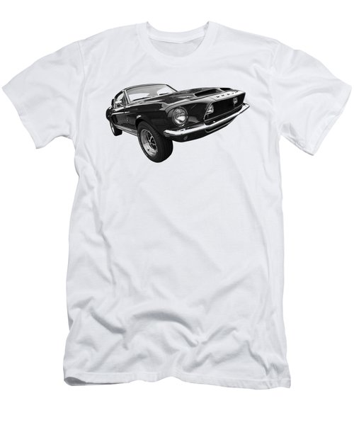 Shelby Gt500kr 1968 In Black And White Men's T-Shirt (Slim Fit)