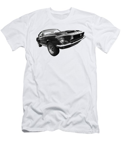 Shelby Gt500kr 1968 In Black And White Men's T-Shirt (Athletic Fit)