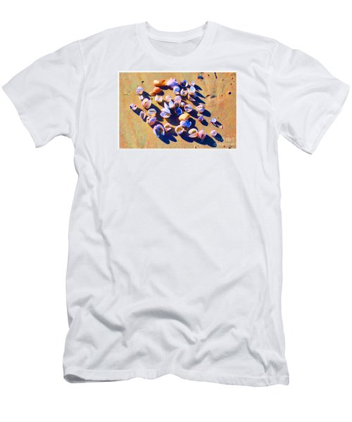 Men's T-Shirt (Slim Fit) featuring the photograph Shell Collection by Roberta Byram
