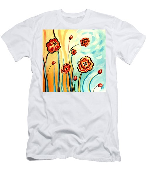 Sherbert And Powder Blue Skies Men's T-Shirt (Athletic Fit)