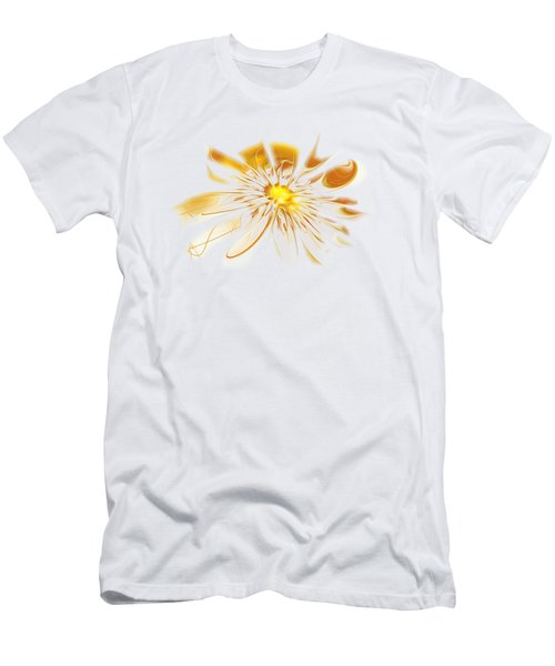 Shining Yellow Flower Men's T-Shirt (Athletic Fit)