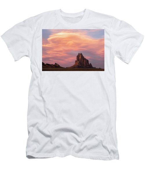 Shiprock At Sunset Men's T-Shirt (Athletic Fit)