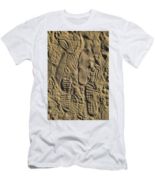 Men's T-Shirt (Slim Fit) featuring the photograph Shoe Prints II by R  Allen Swezey