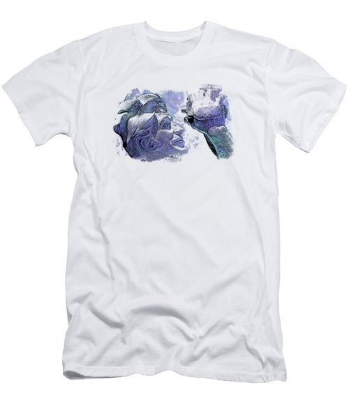 Shoot For The Sky Berry Blues 3 Dimensional Men's T-Shirt (Athletic Fit)