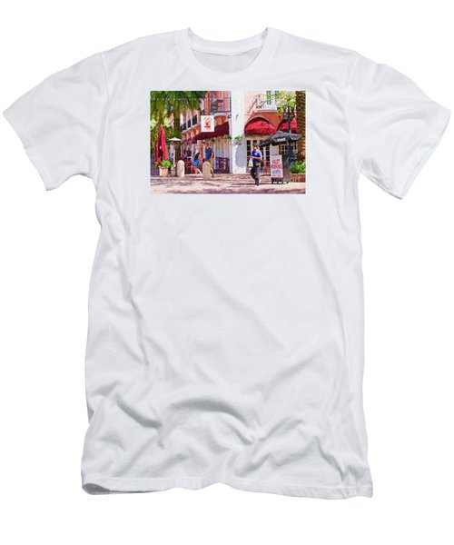 Men's T-Shirt (Slim Fit) featuring the painting Shop Til You Drop  by Judy Kay