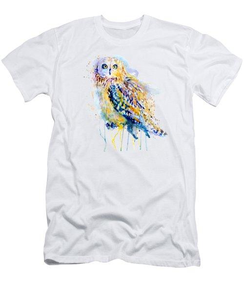 Short Eared Owl  Men's T-Shirt (Athletic Fit)