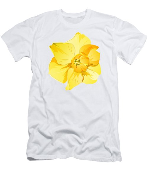 Short Trumpet Daffodil In Yellow Men's T-Shirt (Slim Fit) by MM Anderson