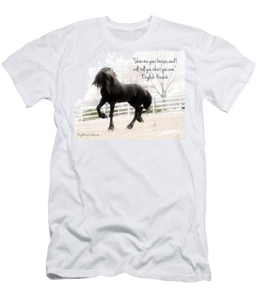 Show Me Your Horse Men's T-Shirt (Athletic Fit)
