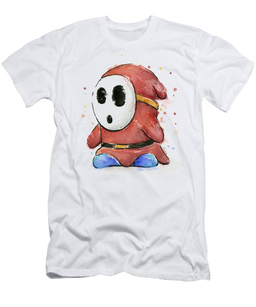 Shy Guy Watercolor Men's T-Shirt (Slim Fit) by Olga Shvartsur