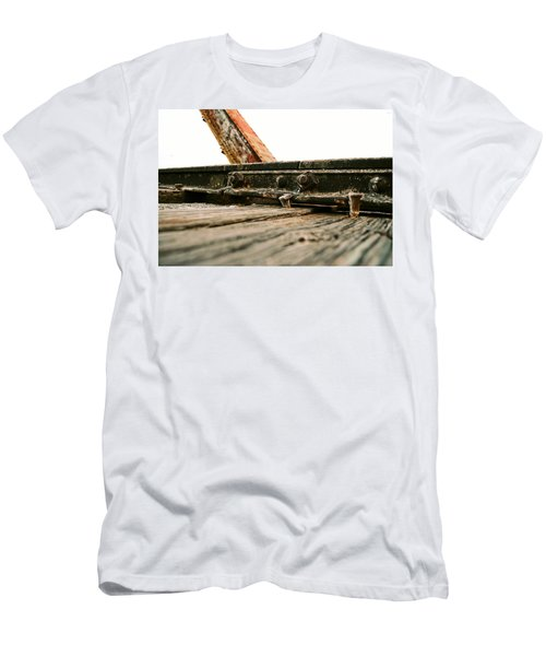 Side Of Rail #photography #trains Men's T-Shirt (Athletic Fit)