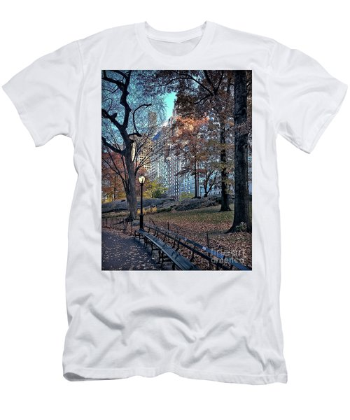 Men's T-Shirt (Slim Fit) featuring the photograph Sights In New York City - Central Park by Walt Foegelle