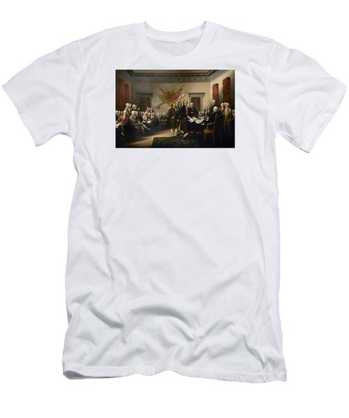 Signing The Declaration Of Independence Men's T-Shirt (Slim Fit)