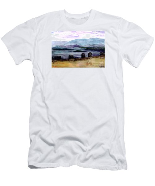 Men's T-Shirt (Slim Fit) featuring the painting Silent Sentinels by Patricia Griffin Brett