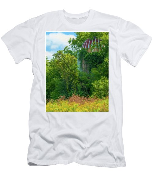 Silent Silo On Nottleson Road Men's T-Shirt (Slim Fit) by Trey Foerster