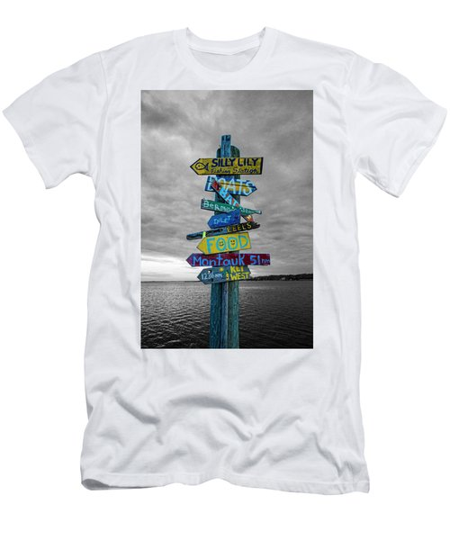 Silly Lily Fishing Station Sign Men's T-Shirt (Athletic Fit)