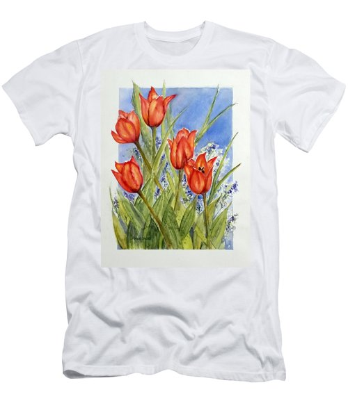 Simply Tulips Men's T-Shirt (Slim Fit)