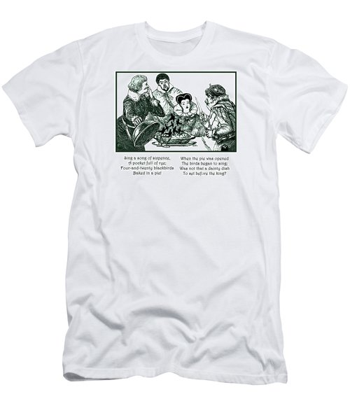 Sing A Song Of Sixpence Nursery Rhyme Men's T-Shirt (Slim Fit) by Marian Cates