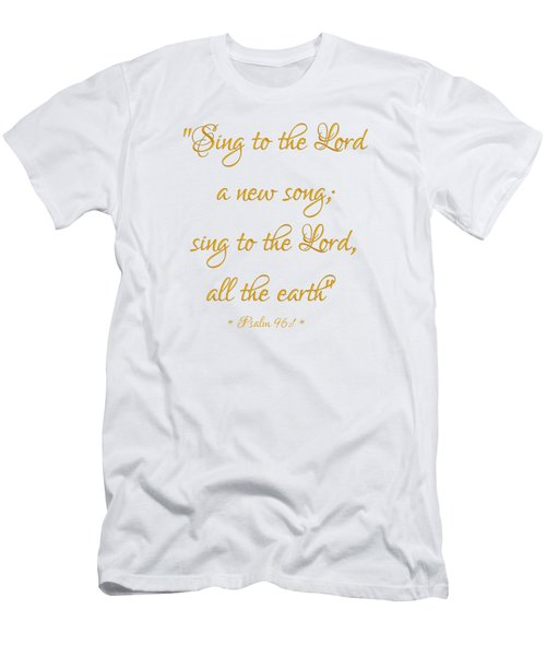 Sing To The Lord A New Song Bible Quote Men's T-Shirt (Athletic Fit)