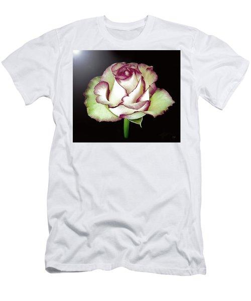 Single Beautiful Rose Men's T-Shirt (Athletic Fit)