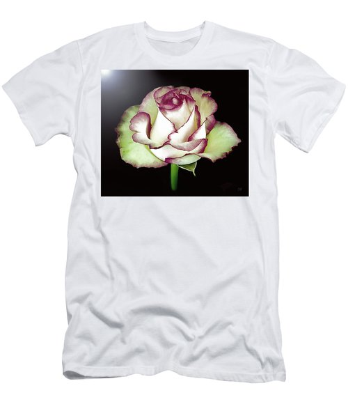 Single Beautiful Rose Men's T-Shirt (Athletic Fit)