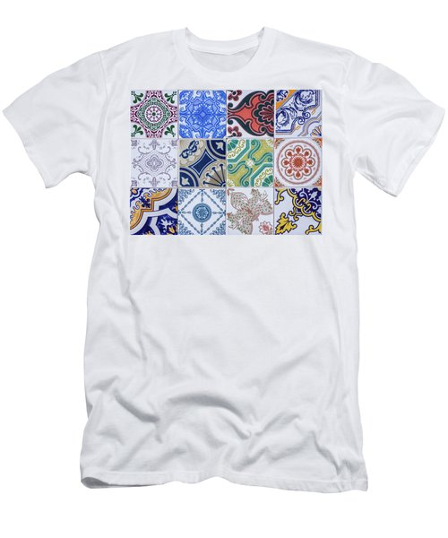 Men's T-Shirt (Slim Fit) featuring the photograph Sintra Tiles by Carlos Caetano