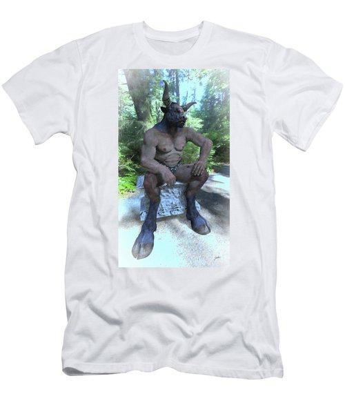 Sitting Bull Men's T-Shirt (Slim Fit) by Joaquin Abella