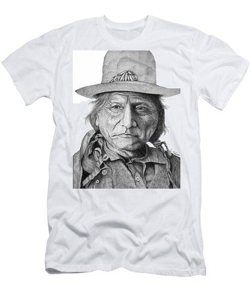 Sitting Bull Men's T-Shirt (Slim Fit) by Lawrence Tripoli