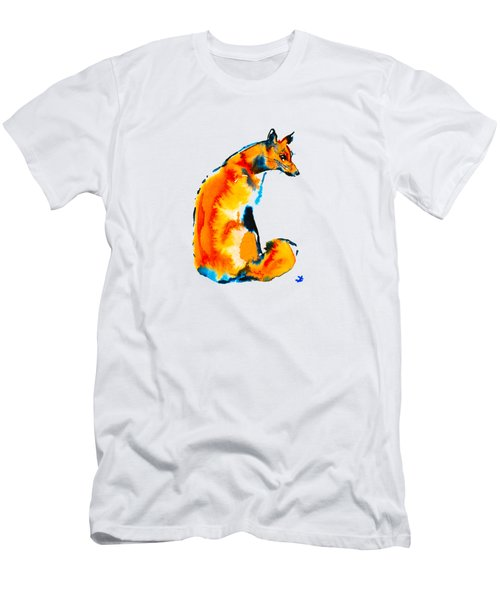 Sitting Fox Men's T-Shirt (Athletic Fit)